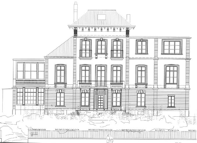 Zeichnung Fassade Straßenseite